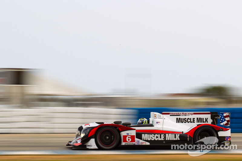 Graf flexes Muscle (Milk) in Tuesday's testing at Sebring