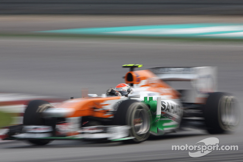Top ten fast times for Sahara Force India in China