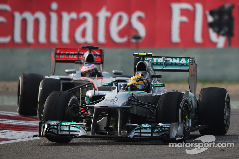 Mercedes' Lewis started from pole and finished third placed in Shanghai