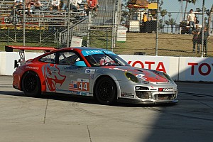 ALMS Qualifying report Pumpelly qualified in third place in the No 45 911 GT3 Cup in Long Beach