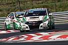Michelisz and Tarquini battle to second and third positions for points at the Hungaroring