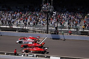 Indy Lights Race report Peter Dempsey wins Freedom 100 in four-wide finish