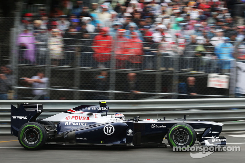 Bottas qualified 14th with Maldonado 16th for tomorrow's Monaco GP