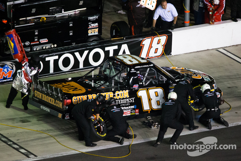 Flat tire deflates Coulters solid start at Texas