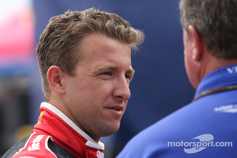 AJ Allmendinger behind the wheel of No.47 Toyota Camry on Michigan 400