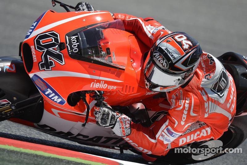 Dovizioso seventh in Catalonia, crash for Hayden