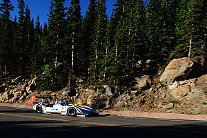 Hillclimb Qualifying report Romain Dumas confirms his dark horse status at Pikes Peak