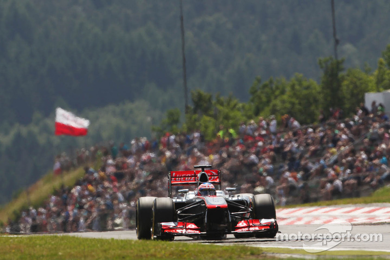 McLaren's Button is top-ten on qualifying for the tomorrow's German GP