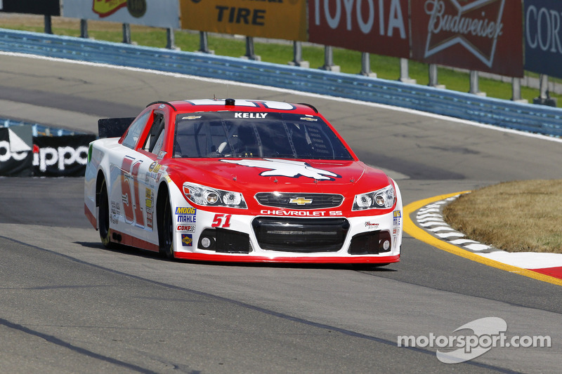 Kelly qualifies best of non regulars in Sprint Cup debut at Watkins Glen