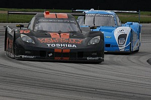 Grand-Am Race report Jordan Taylor holds off Pruett for the inaugural Kansas Speedway win