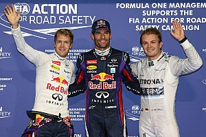 Formula 1 Qualifying report Webber steals pole from team mate Vettel in Abu Dhabi