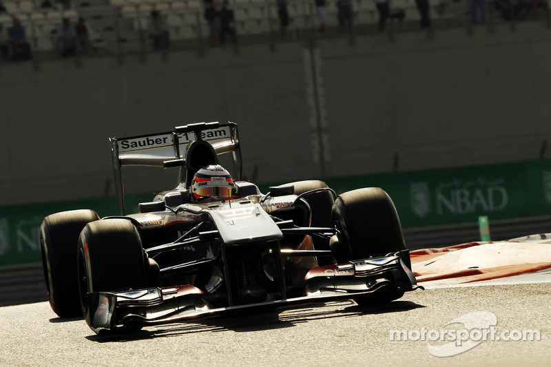 Sauber's Hulkenberg qualified sixth for the Abu Dhabi GP