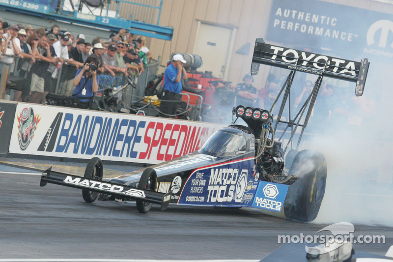 Antron Brown is eager for spinning tires at Pomona