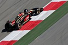 First day of testing in the Lotus E22 for Maldonado at Bahrain