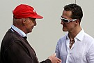 Lauda 'annoyed' by Schumacher rumours