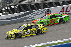 NASCAR Cup Race report Edwards fights back to claim top-10 finish at Fontana