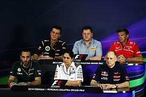 Formula 1 Press conference 2014 Malaysian Grand Prix - Friday Press Conference