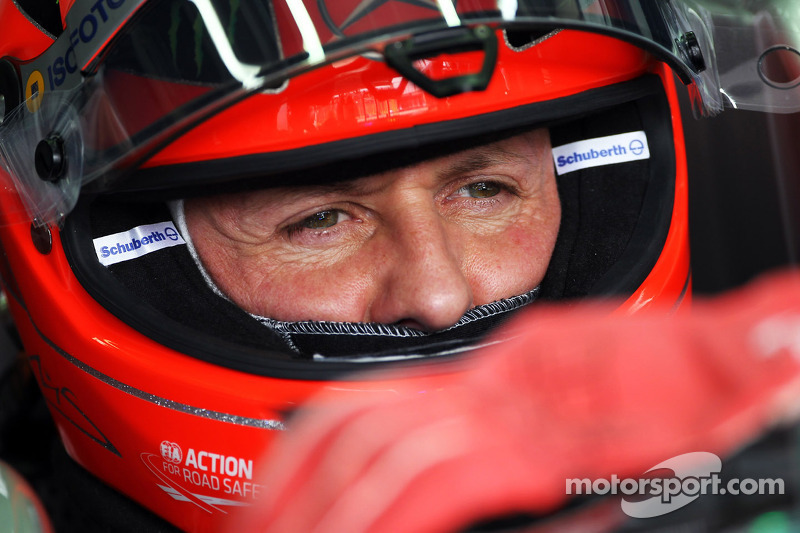 Schumi making eye-contact, responding to voices
