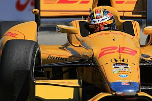 IndyCar Qualifying report Hunter-Reay takes pole position at Long Beach