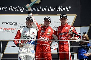 Indy Lights Race report Brazilian Razia secures maiden victory under pressure at Indianapolis