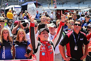Indy Lights Race report Chaves steals win from Brabham in Indy