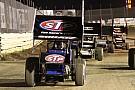 Donny Schatz battles Sammy Swindell for win at Lawrenceburg Speedway