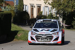 WRC Stage report Steady improvements for Hyundai on day one in France