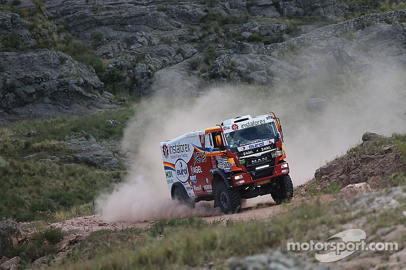 The eight stage is done for the Instaforex Loprais Team