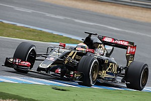 Formula 1 Testing report Lotus E23 takes to the track for the first time today at Jerez