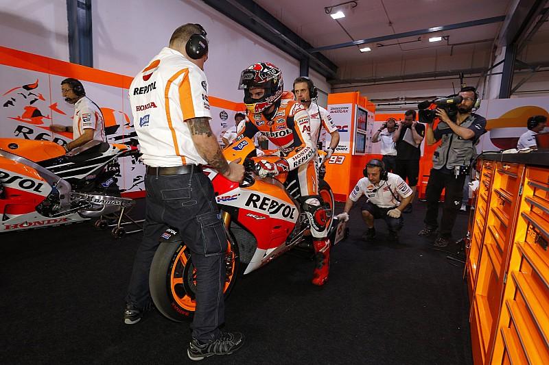 Márquez et Pedrosa se placent en tête dès leur entrée en piste