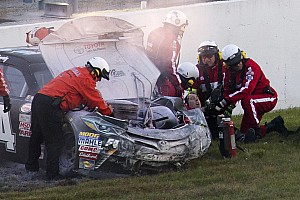 NASCAR Cup Breaking news NASCAR ovals react to Busch's leg-breaking crash