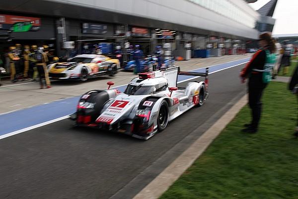 Audi fastest again in wet Silverstone FP3