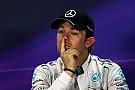 Rosberg admet qu'il ne peut masquer sa déception