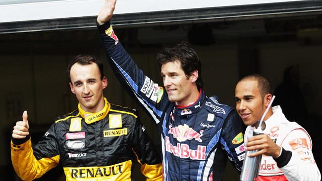 Webber si gode la pole position