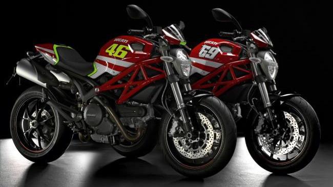 Arrivano le Ducati Monster Replica di Rossi e Hayden