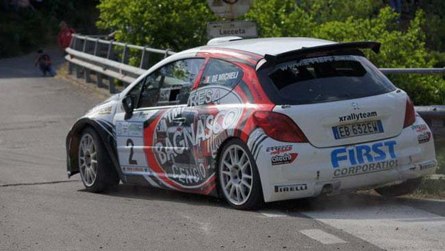 Manuel De Micheli al via del Rally di Madeira