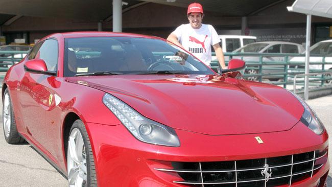 Alonso incontra Montezemolo a Maranello