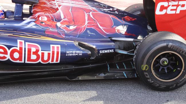 Anche la Toro Rosso prova gli scarichi tipo Sauber
