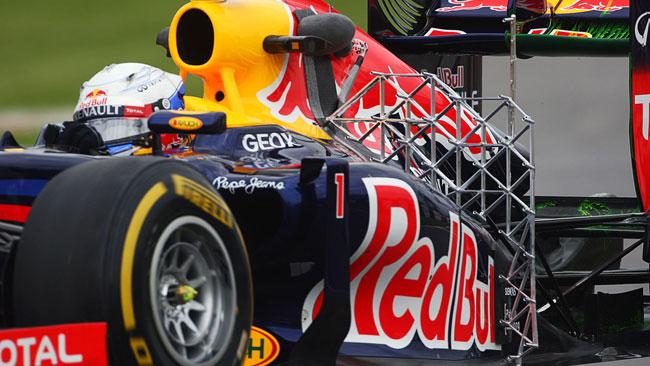 La Red Bull ha montato una griglia di sensori!