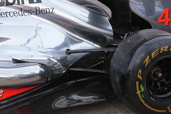 Sulla McLaren è cambiata la sospensione posteriore