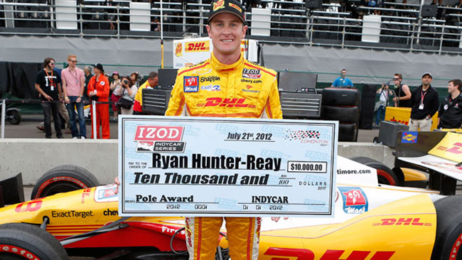 Hunter-Reay conquista una pole per lui inutile