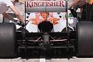 La Force India gira con il camber positivo posteriore?