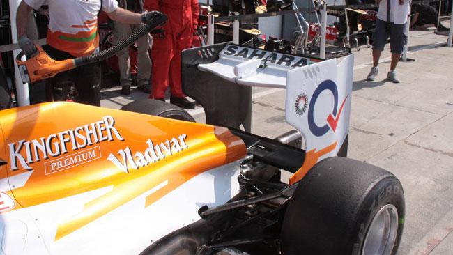 Force India con l'ala posteriore a delta
