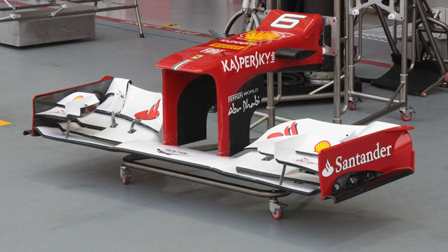 Ferrari: promossa l'ala provata a Magny-Cours