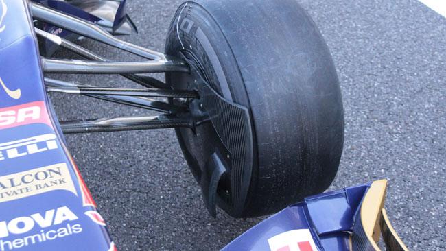 Le prese dei freni Toro Rosso simili a quelle Williams