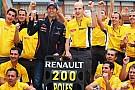 Webber festeggia la 200esima pole della Renault