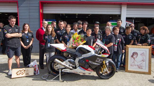 La moto di Shoya Tomizawa donata alla sua famiglia