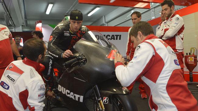 Dovizioso in pista con la stessa Ducati di domenica