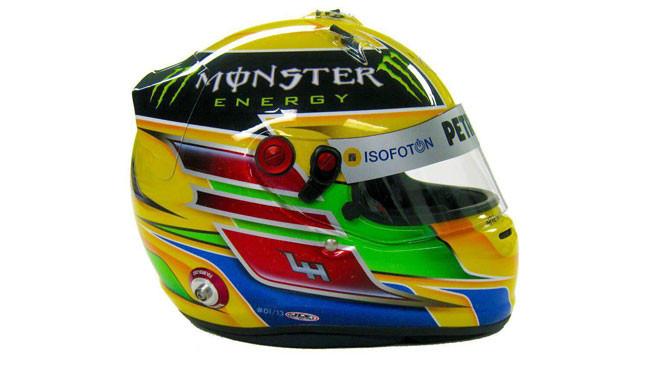 Ecco il nuovo disegno del casco di Lewis Hamilton