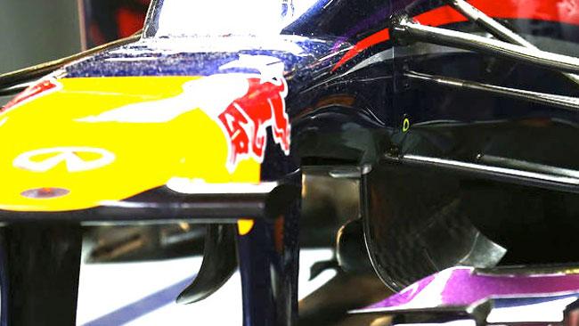 Anche la Red Bull mostra un buco sotto al muso